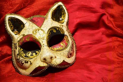 Mask, Cat, Carnival, Color, Cat Mask, Larva, Cats Larva