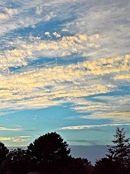Nature, Dusk, Sunset, Sky, Loose Wolkenformation