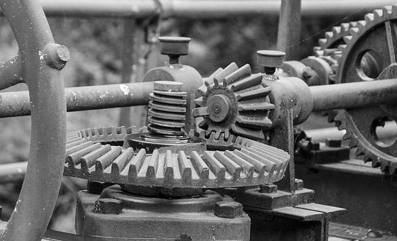 Gear, Machinery, Mechanism, Rusty, Machine, Iron