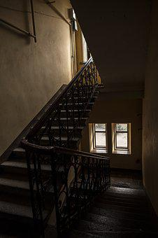 Entrance, Old House, Ladder, Architecture, Interior