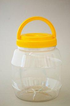 Pet Jar With Cap, Plastic, Pet, Jar, Container, Bottle