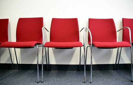Chairs, Red, Red Chairs, Seat, Seating Area
