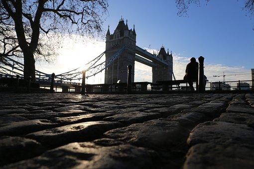 London, Tower Bridge, Places Of Interest, Morning, Sky