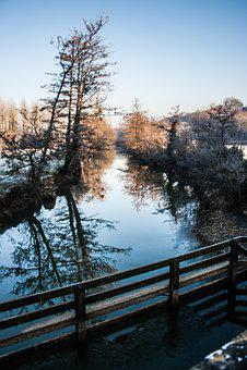 River, Winter Landscape, White, Nature, Ice, Water