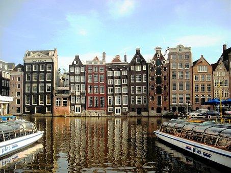 Amsterdam, Holland, Boats, River
