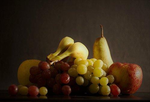 Fruits, Nutrition, Vitamins, Grapes, Apple, Banana