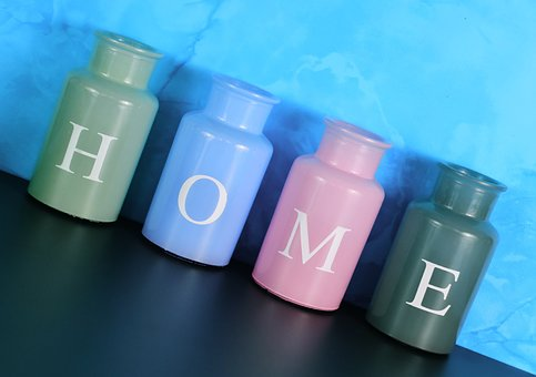 Vases, Home, At Home, Colorful, Glass, Decoration