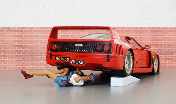 Model Car, Ferrari, Model, Mechanic, Workshop, Auto