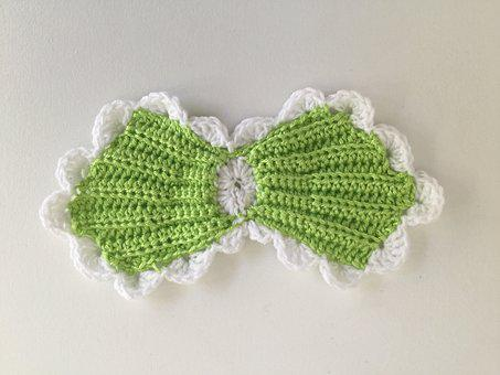 Bow, Crochet, Handmade, Baby, Cute, Knitting, Newborn