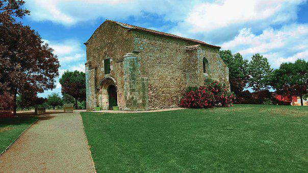 Church, Granary, Mediterranean, Vendée, Building