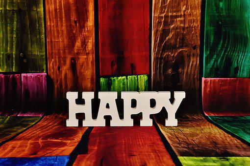 Lettering, Happy, Letters, Funny, Cheerful, Decoration