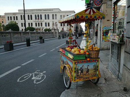 Palermo, Citrus Fruits, Stall