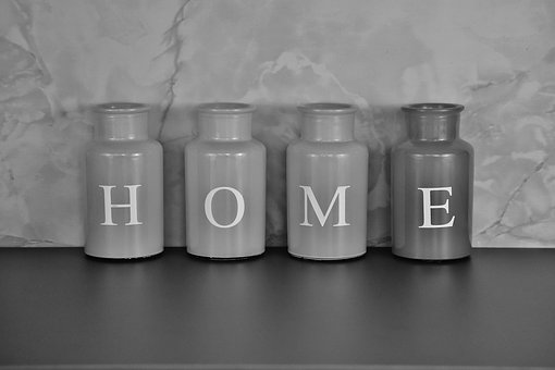 Black And White, Home, At Home, Vases, Colorful, Glass