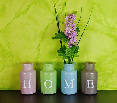 Home, Flowers, At Home, Vases, Colorful, Glass
