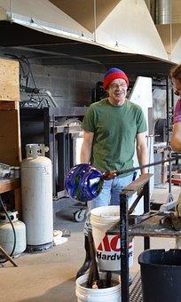 Glass, Blowing, Handmade, Craft, Molten, Work, Hot