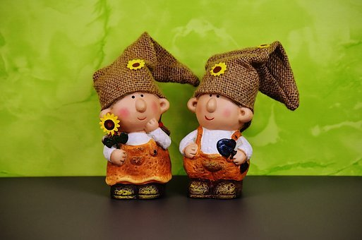 Wichtel Couple, Spring Imp, Decoration, Dwarf, Cute