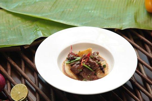 Filipino, Fiesta, Food, Pressure, Leaves, Dish, Pepper