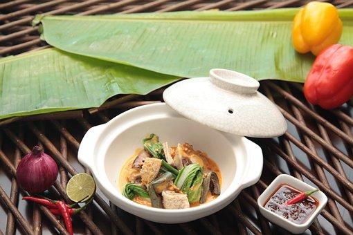 Kare - Kare, Filipino, Fiesta, Food, Pressure, Leaves