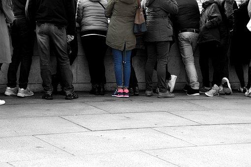 Public, Legs, Shoes, Jeans, Shoe, Foot, Colorful, Woman