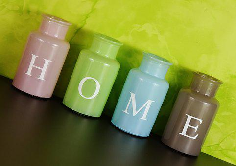 Home, At Home, Vases, Colorful, Glass, Decoration