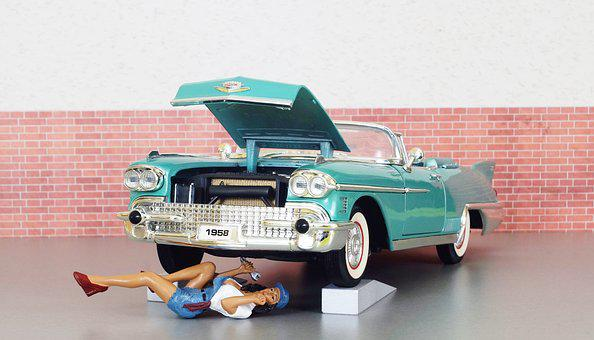 Model Car, Cadillac, Cadillac Eldorado, Mechanic