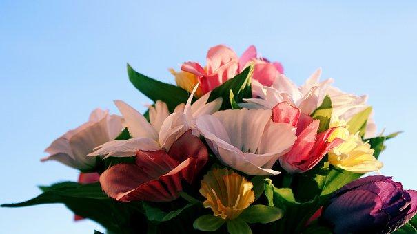 Flowers, Mountains, Vase, Balcony, Background