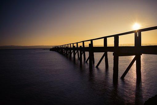 Culross, Pier, Fife, Forth, Coast, Scotland