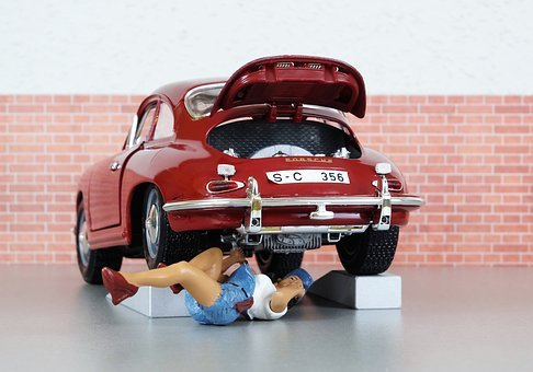 Model Car, Auto, Porsche, Porsche 356, Mechanic