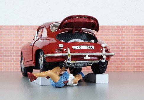 Model Car, Auto, Porsche, Porsche 356, Mechanic