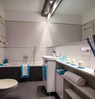 Bathroom, Wc, Bath, Sink, Mirror, Apartment, Room