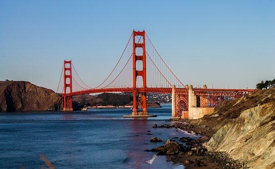Golden, Gate, Bridge, Sf, California, Landmark