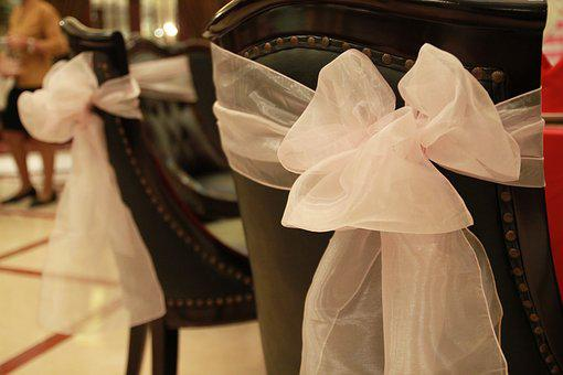 Decoration, Chair, Wedding, Dining, Ribbon