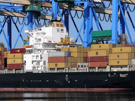 Port, Trade, Crane, Maritime, Metal, France, Industry
