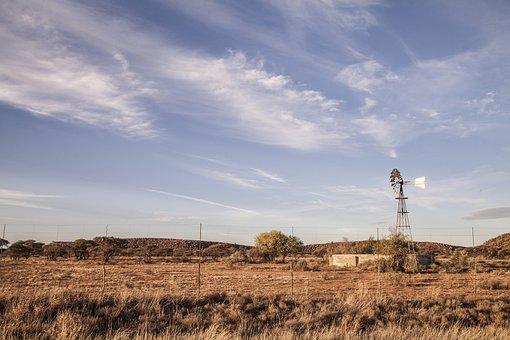 Landscape, Windmill, Land, Karoo, South Africa
