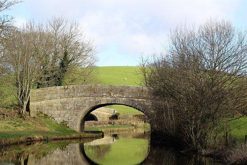 Landscape, Canal, Canal Bridge, Stone Bridge