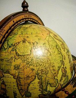 Globe, World, Sphere, Map, Antique, Earth