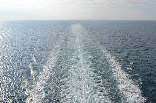 Ship's Wake, Cruise Ship, Sea, Ship, Cruise, Porto