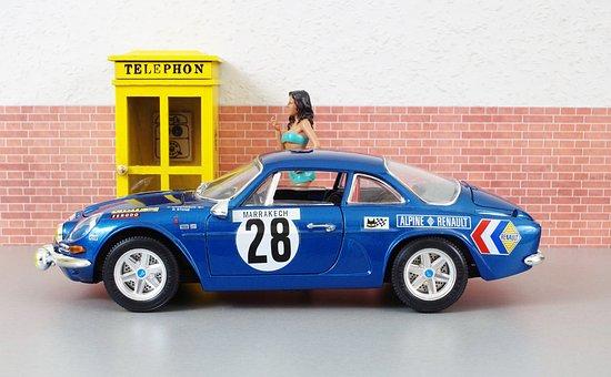 Model Car, Renault, Renault Alpine, Model, Auto