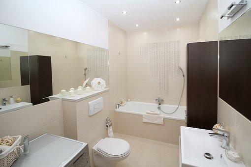 Bathroom, Bath, Wc, Toilet, Sink, Mirror, Apartment