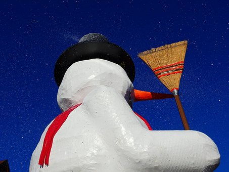 Carnival, Snow Man, Move, Motif, Papier-mâché, Snow