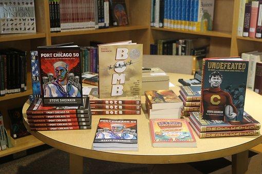 Author Visit, Books, Book Display, Steve Sheinkin