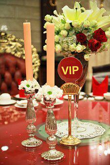 Vip Table, Dining, Table Setting, Luxury, Restaurant