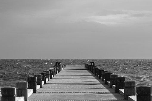 Sea, Clouds, Cloudy Sky, Landscape, Beach, Shore