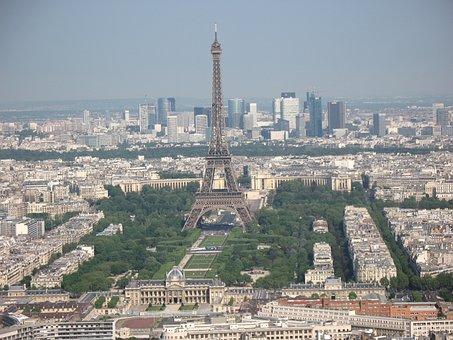 Paris, Eiffel, Tower, Europe, City, Cityscape, French