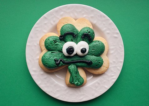 St Patrick's Day, Holiday, Clover, Cookie