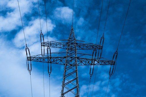 Strommast, Current, Energy, High Voltage, Line