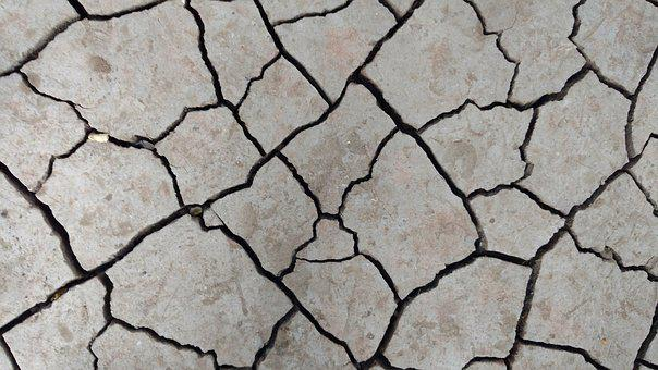 Cracks, Dry, Ground, Pattern, Drought, Earthquake