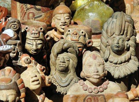 Guatemala, Market, Figurines, Statues, Pottery