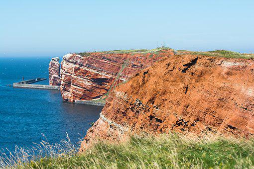 Helgoland, Island, North Sea, Rock, Calm Sea