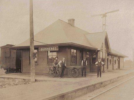 Vintage, Railroad, Station, Railway, Transportation